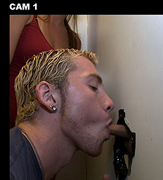 young guy doesn't know it's a guy sucking his cock